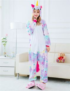 07aa0d45c7 Animal Stitch Unicorn Panda Bear Koala Pikachu Cosplay Costume Pajamas