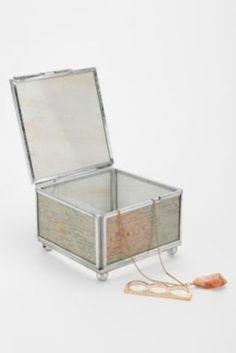 Glass World Map Box