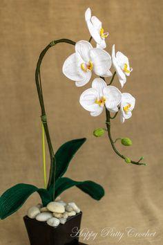 PATRÓN de orquídea ganchillo polilla de la por HappyPattyCrochet