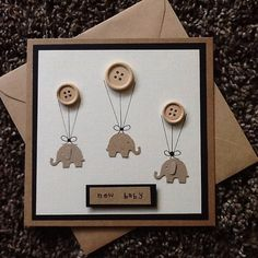 New baby card -baby shower-baby congratulations-baby birth annoucement…