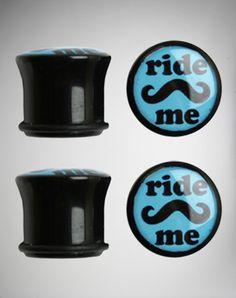 00 Gauge Mustache Ride Me Plug Set