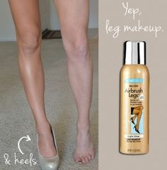 How to get camera ready legs: Airbrush makeup for your legs - you'll never go without this coverup when in a cocktail dress again!