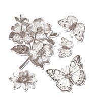 Sizzix Framelits(TM) with Stamps Butterflies 3 by Hero Arts 5Pk Information