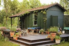 A rustic cabin in Fontainebleau serves as a retreat for designers Jérôme Dreyfuss and Isabel Marant. Photographs by Adrian Gaut - nytimes