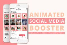 Animated Social Media Booster .PSD by Brandspark on @creativemarket