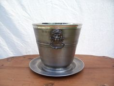 Vintage John Somers Pewter Ice bucket and by trufflepigtreasures, $38.00
