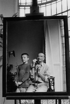 Édouard Boubat, Self-portrait with Grandson Remi, Paris 1996. Édouard Boubat (born 13 September 1923 Montmartre, Paris – died 30 June 1999 (aged 75) Paris) was a French photojournalist and art photographer. He took his first photograph after the war in 1946 and was awarded the Kodak Prize the following year. His son Bernard Boubat is also a photographer.