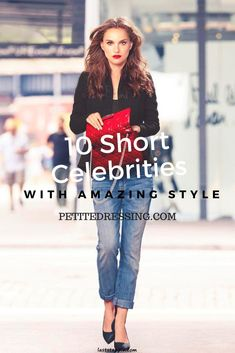11 Short Celebrities with Amazing Style - Jeans For Petite Women - Ideas of Jeans For Petite Women - 10 hottest short celebrities with amazing style.petitedressin for petite clothing from independent designers. Short Girl Fashion, Fashion For Petite Women, Petite Fashion Tips, Petite Outfits, Tween Fashion, Petite Clothes, Petite Dresses, Short Girl Style, Trendy Fashion