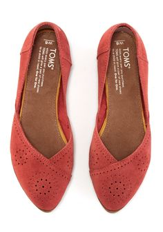 f33f650c37a These delicately perforated suede flats are easy to slip on and perfect for  casual days that