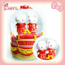 Genuine Sanrio hellokitty Hong Kong Chinese dragon suit six sets of dishes celebrate wedding gift - Taobao
