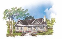 Eplans Country House Plan - Modest, yet Appealing - 1428 Square Feet and 3 Bedrooms from Eplans - House Plan Code HWEPL07203