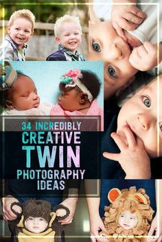 Try these beautiful creative photography ideas for twins.  And be sure to share them on BabyBump! #twinphotography  #childrenphotos #kidphotoideas
