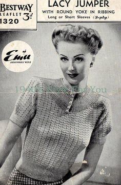 7d14bbc74 13 Best Free 1940 s Knitting Patterns images