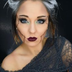 Bride of Frankenstein Halloween makeup by Erica Gamby