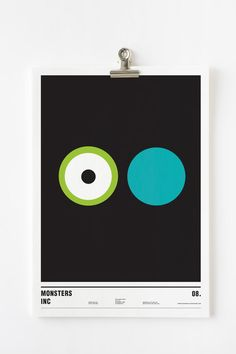 """Extreme minimalist poster of """"Monsters Inc."""" by Nick Barclay"""