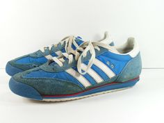 3076771f5 vintage adidas SL-72 shoes mens 8 blue white sneakers 1970s starsky & hutch  #adidas #RunningShoes