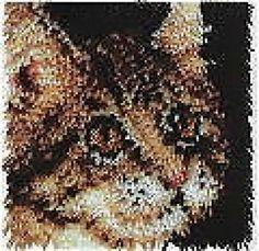 "Tabby Cat Latch Hook Rug Kit - 12"" x 12"""
