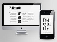 Pelican Fly #web #design