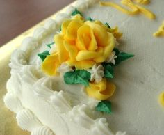 I always use this when I decorate cakes and I get many, many compliments on the wonderful taste. It is not that usual shortening-and-sugar-bakery-icing taste. If I am not using it to decorate a cake with, I use my all butter variation: Recipe #261024.