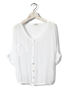 Perfect basic. Pull N Bear, Summer Looks, White Tops, Asos, Chiffon, Blouse, My Style, Sweaters, Shirts