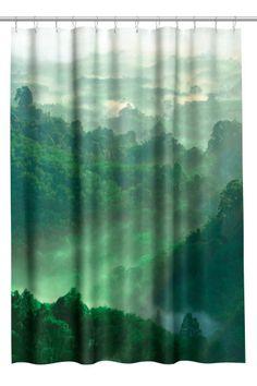 Dusjforheng med fototrykk - Grønn - Home All | H&M NO 1