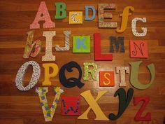 interesting alphabet on wall