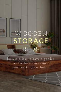 Wooden king size beds are no less than a throne of comfort which every person loves to reach after a long day. Its enormous size and additional features have always made it the most loved furniture unit in the house. Wooden Street has come ahead with instigating a wide range of solid wood king size beds online available with premium quality, stunning designs and lots of serviceability added. Buy King Size Bed, Wooden King Size Bed, Wooden Bed With Storage, Bed Storage, Wooden Street, Beds Online, Bedroom Furniture, Solid Wood, Range