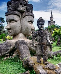 """The Buddha Park in Vientiane, Laos""  by ignacio izquierdo."