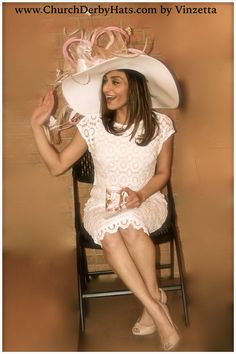 """Hanna"" Kentucky Derby hat hats by #Vinzetta www.ChurchDerbyHats.com"