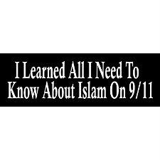 i learned all i need to know about islam on 9/11