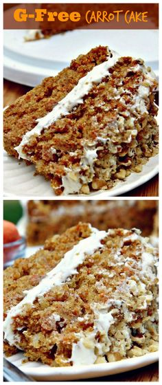 Taste this fluffy, moist #GlutenFree #CarrotCake