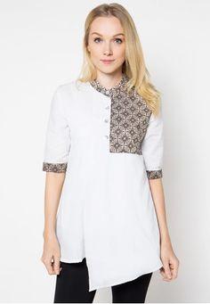 Batik Kombinasi Polos Untuk Wanita