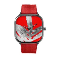 Pink Nature Inverted Red Watch – Modify Watches