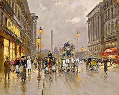 Haute Couture Chanel Dior French Street Scene   24   Large CANVAS Art  Print