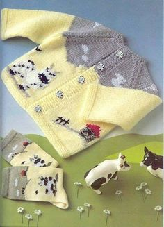 "[ ""Crochet Art added 99 n Crochet Jacket Pattern, Baby Cardigan Knitting Pattern, Knitted Baby Cardigan, Baby Knitting Patterns, Knitting Designs, Baby Patterns, Diy Crafts Knitting, Knitting For Kids, Crochet For Kids"