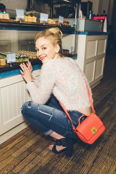 "The Walking Dead's Emily Kinney Takes Us On A Tour Of Her NYC #refinery29  http://www.refinery29.com/emily-kinney-walking-dead#slide14  When you're back in NYC, are there any neighborhood spots that you frequent?""There are so many cupcake, candy, and cookie shops in my neighborhood. I love the little cake pops here at Treat House — the Birthday Cake and M&M-covered ones are my favorite. I feel like these would be so cute to send to a friend or coworker instead of flowers or cupcakes, ..."