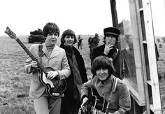 03MAY1965 The Beatles arrived in cold and windswept Salisbury Plain  to film Help!