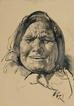 NIKOLAI BLOKHIN (Rusia, 1968)  Old woman