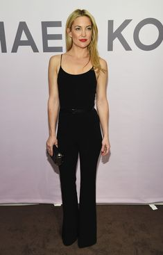 Kate Hudson.. black Michael Kors Pre-Fall 2015 jumpsuit..