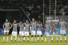 DOHA, QATAR - DECEMBER 22: Juventus's players react during the 2014 Italian Super Cup match between Juventus FC v SSC Napoli at the Sheikh Jassim Bin Hamad Stadium, in the Qatari capital, Doha on December 22, 2014. (Photo by Mohamed Farag/Anadolu Agency/Getty Images)