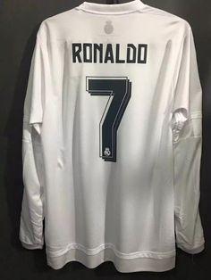 94312e79b 2016 Champions League Final Cristiano Ronaldo 7 Long Sleeve Match Issue Soccer  Jersey Football Shirt Camiseta De Fútbol Voetbal Jersey Maillot De Foot ...