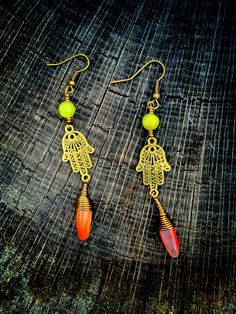 LOVVVE these Hamsa earrings by Natural State Essentials! Check her out on Etsy and Instagram @naturalstateessentials!