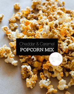 Cheddar and Caramel Popcorn Mix . This semi-homemade version of the popular Chicago treat will surely please anyone craving sweet, salty, nutty, and cheesy flavors.