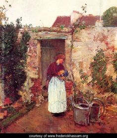 The Garden Door - Frederick Childe Hassam -