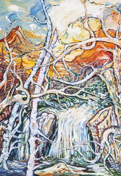 Pahýle, olej na plátne 100 x 70 cm, Pavel Huszár, Banská Bystrica, Slovakia