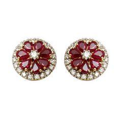 Diamond and ruby earrings