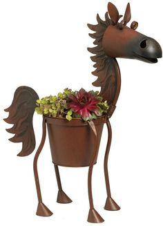 Whimsical Horse Planters for Your Home or Barn