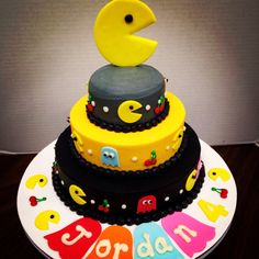 PacMan stacked cake