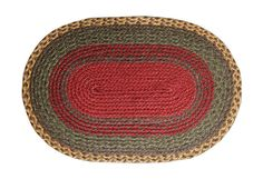 Burgundy/Green/Sunflower Braided Rug In Different Shapes And Sizes