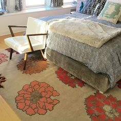 Madeline's Sophie Tibetan Carpet featured in Petrie Point Designs.
